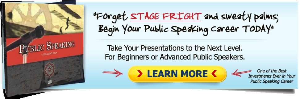 public speaking cds