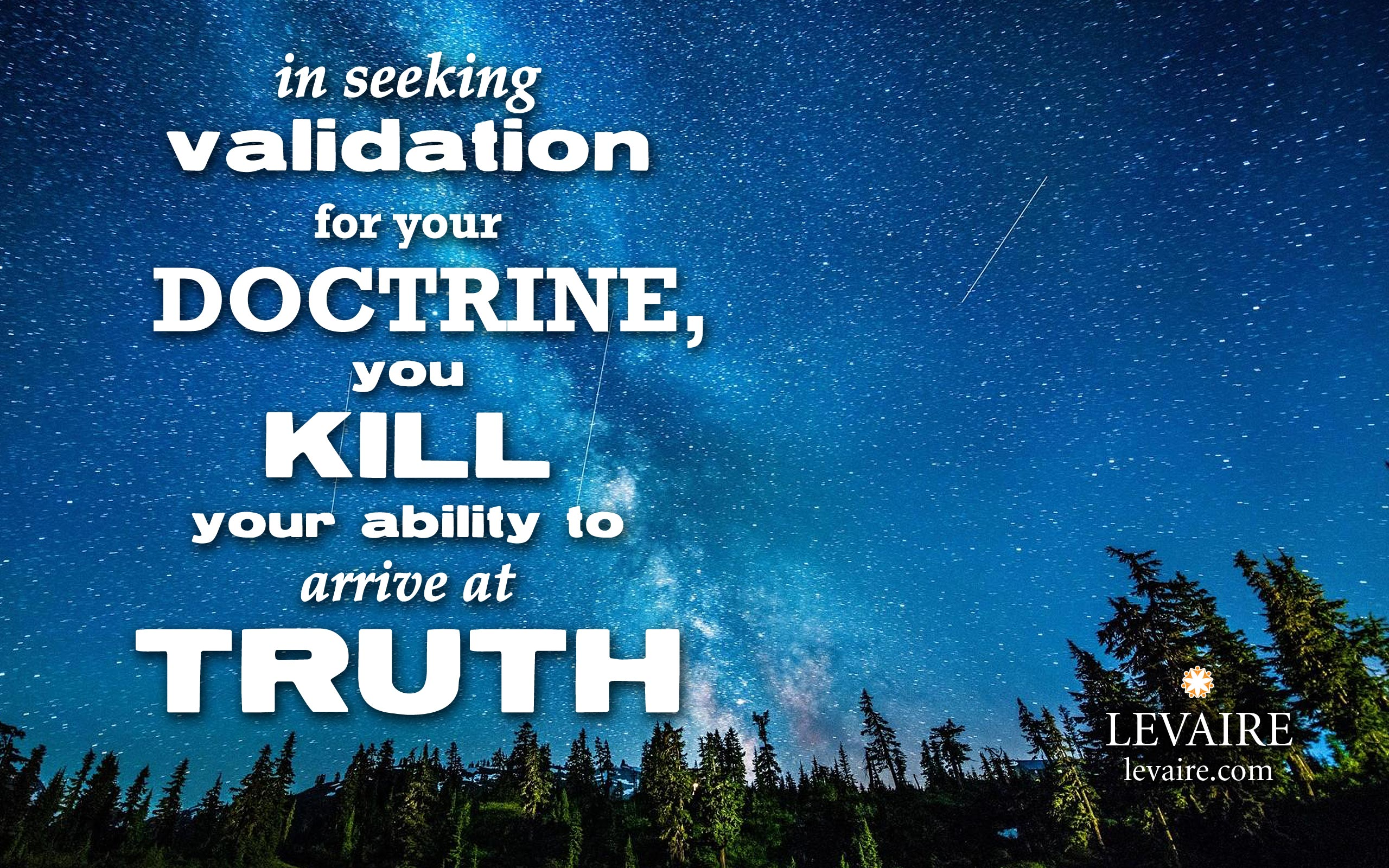 quote doctrine kills truth