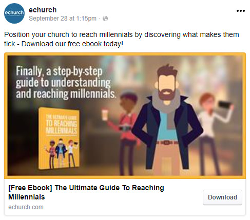 millennial church marketing