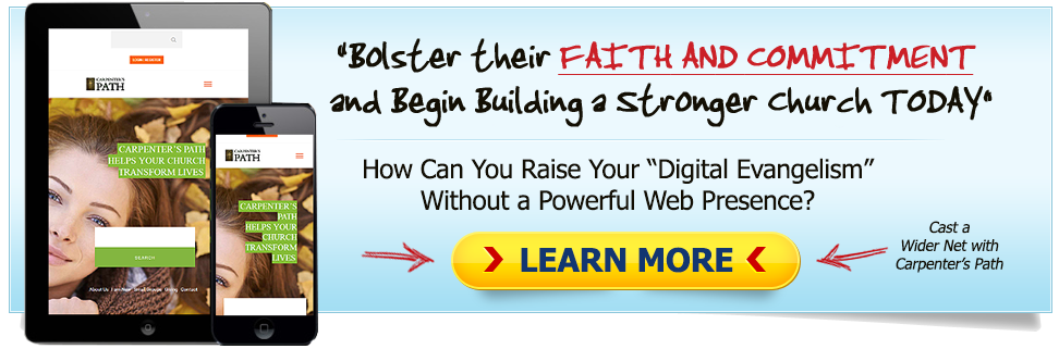 church website banner ad
