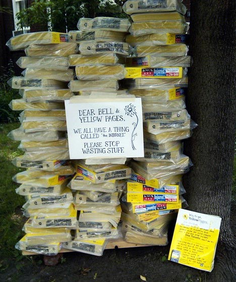 recycling the yellow pages