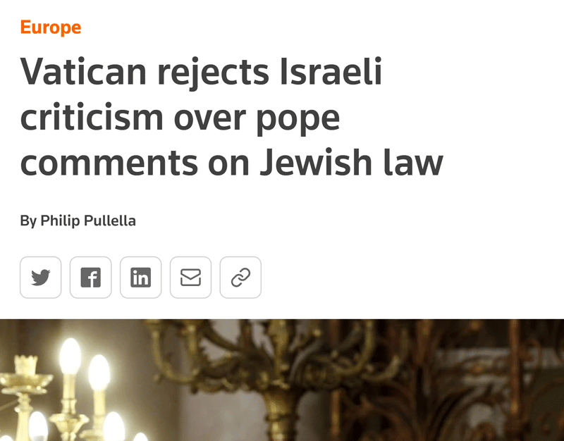 pope rejects criticism
