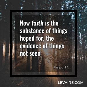 Hebrews 11:1 the evidence of things not seen