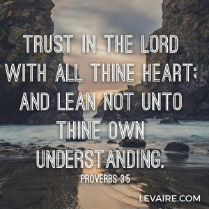 Proverbs 3:5 trust in the Lord with all thine heart